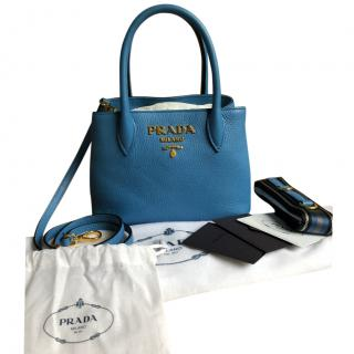 Prada Blue Mini Hand Bag