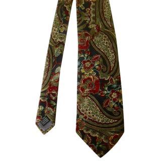 Loris Azzaro Stylish Navy Paisley Silk Neck Tie