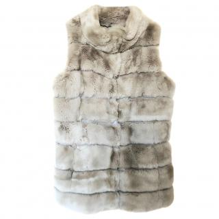 Parosh rex rabbit fur vest