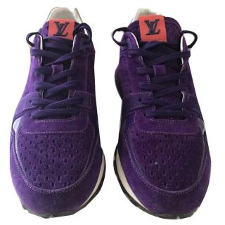 Louis Vuitton purple suede runaway trainers UK 6 EU 39