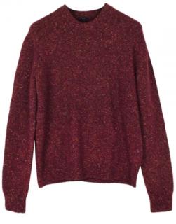 Joseph alpaca blend fine tweed sweater