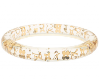 Louis Vuitton Clear Resin Monogram Inclusion Bangle