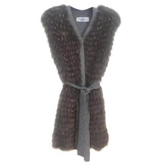 Pintadera Racoon fur vest