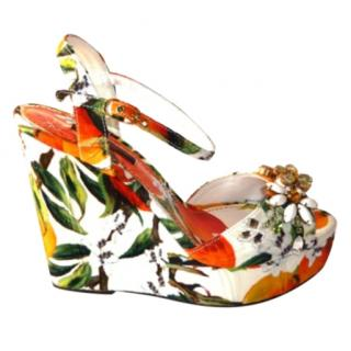 Dolce & Gabbana Embellished Wedge Sandals