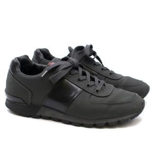 Prada Nylon & Spazzolato Sneakers