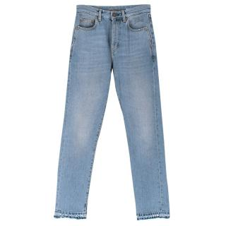 Saint Laurent Light-wash Straight Leg Jeans