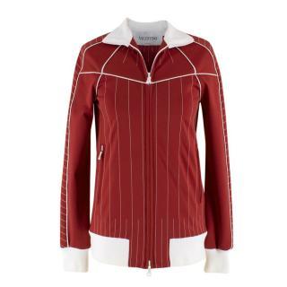Valentino Stitching Techno Gabardine Track Jacket