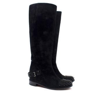 Christian Louboutin Black Studded Boots