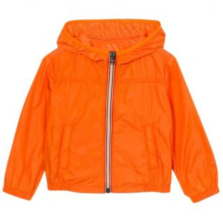 Moncler Orange Boy's Windbreaker Jacket