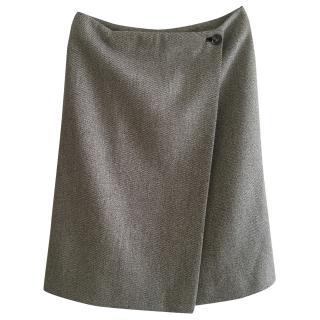 Loro Piana Wool Wrap Skirt