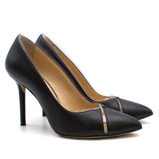 Charlotte Olympia Leather & Perspex Pumps