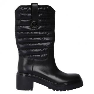 Moncler quilted leather boots