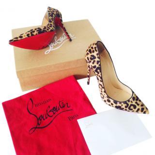 Christian Louboutin So Kate 120 Leopard print pumps