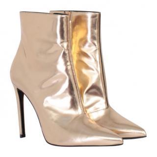 Balenciaga gold ankle boots