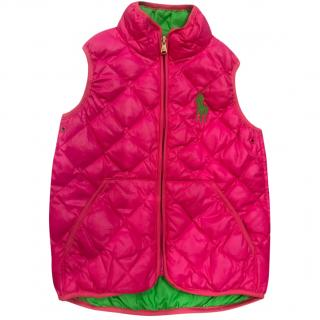 Ralph lauren girls sleeveless jacket