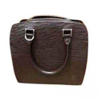 Louis Vuitton Chocolate Brown Epi Leather Double Zip Top Handle Bag