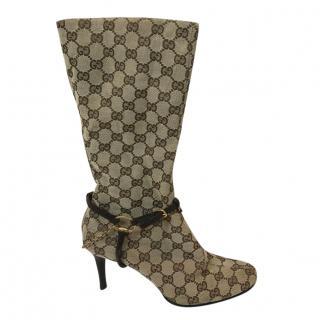 Gucci GG Monogram Boots