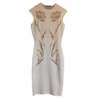 Alexander Mcqueen Wool Blend Knit Sleeveless Dress
