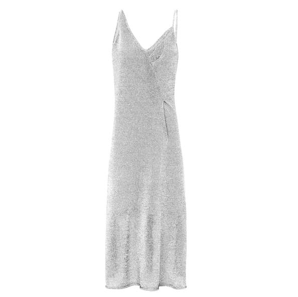 Sass Bide Silver Liquid Metal Dress Hewi