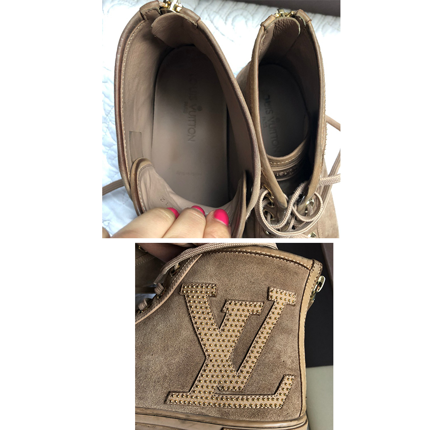 Louis Vuitton Punchy Suede High Top Trainers157097   HEWI London fee1862d25