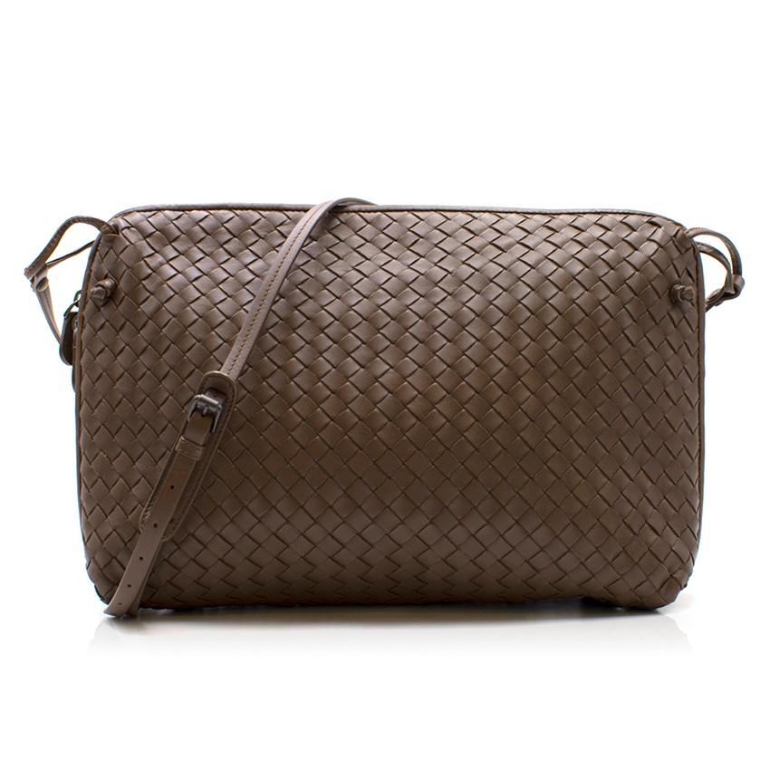 28916109da5d Bottega Veneta Brown Intrecciato Nappa Nodini Bag