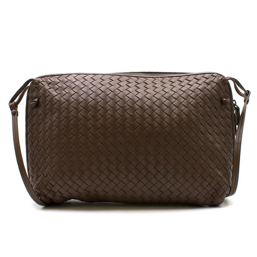 a1e71d2a07cd Bottega Veneta Brown Intrecciato Nappa Nodini Bag. 39. 12345678910