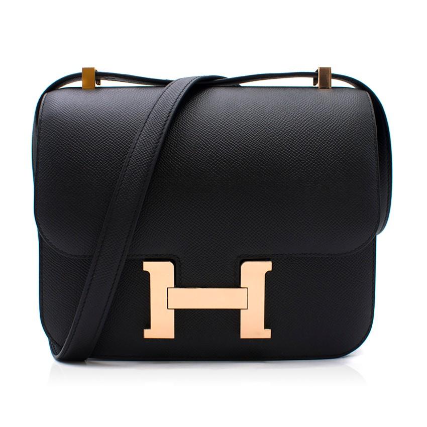 Hermes Black Epsom Leather Constance Bag