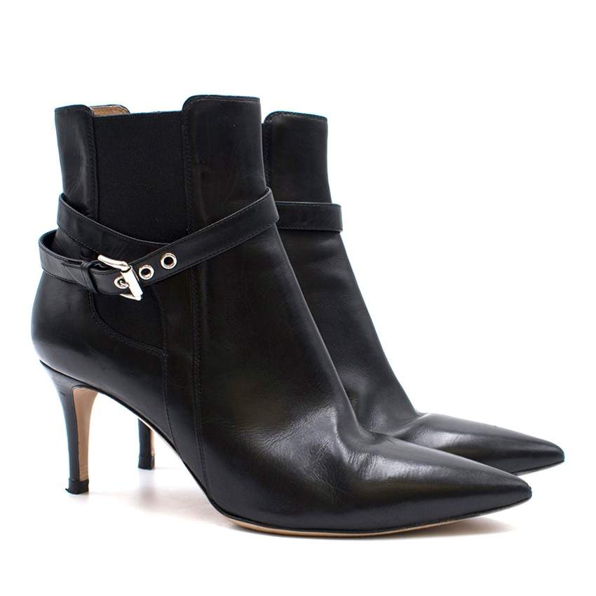 Gianvito Rossi Leather Stiletto Ankle Boots