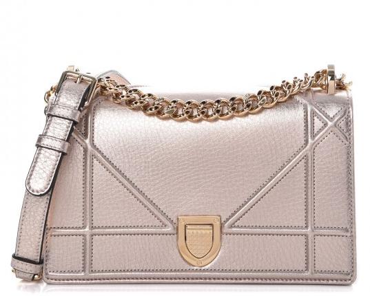 6055eca86a Christian Dior Metallic Copper Grained Calfskin Small Diorama Bag