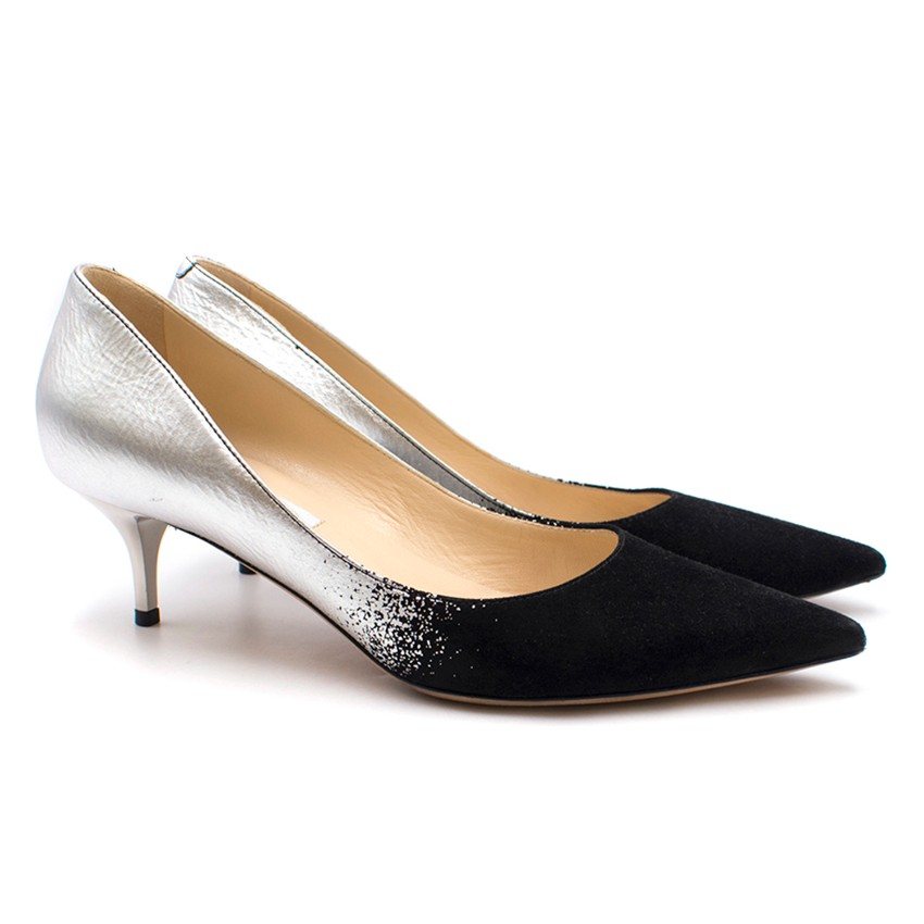 4fe86dfd8 Jimmy Choo Aza Metallic Degrade Kitten Heel Pump