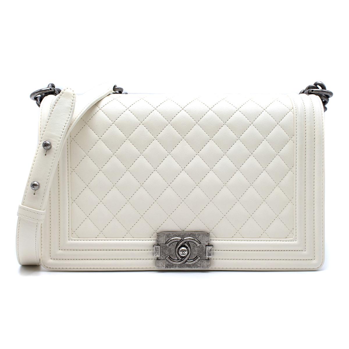 Chanel Large White Boy Bag