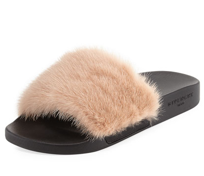 Givenchy Mink Fur Slides