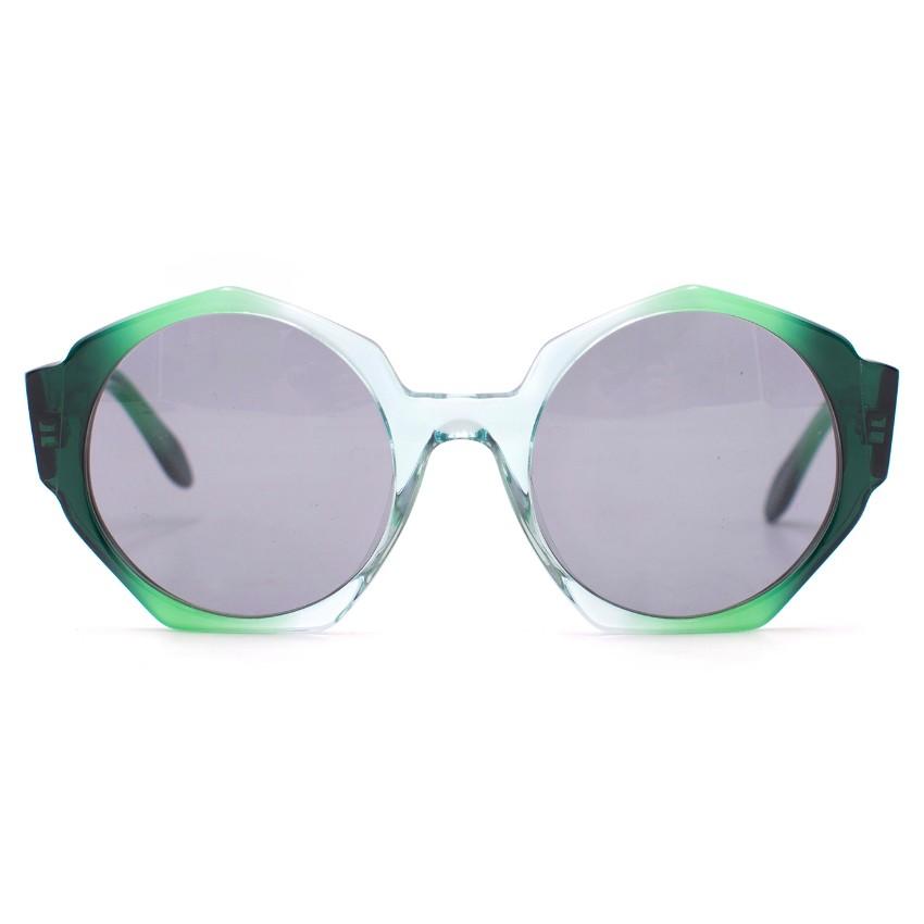 Zanzan Ortolan Green Sunglasses