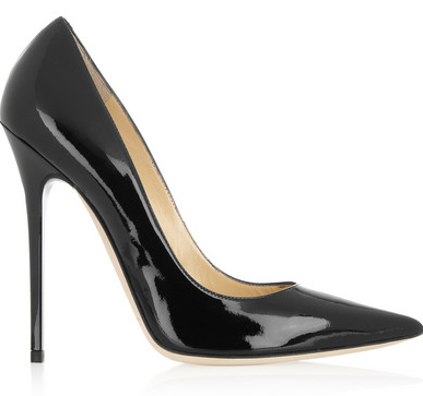 Jimmy Choo black patent leather anouk stilettos