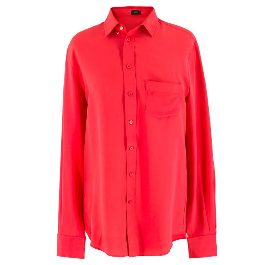 Joseph Hot Pink Silk Boyfriend Shirt