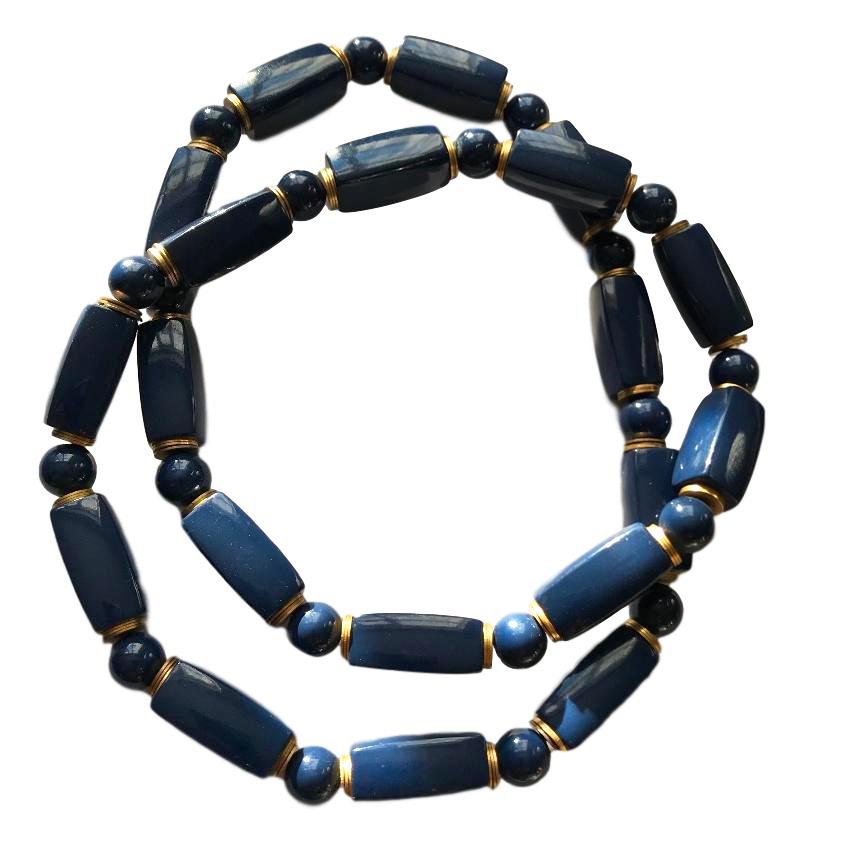 YSL Cobalt Vintage Necklace