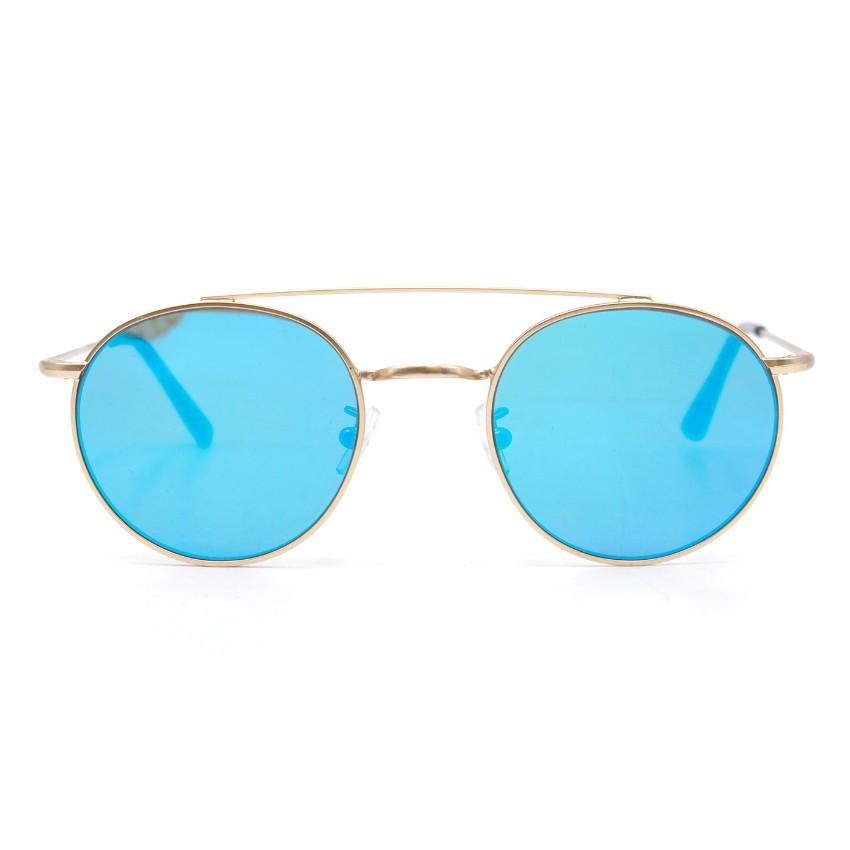 Vionnet Blue Reflective Round Sunglasses