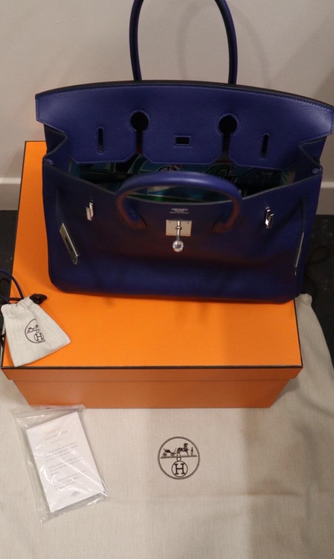 85f030de47 Hermes Taurillon Novillo Blue Sapphire 35cm Birkin Bag. 27. 12345678910