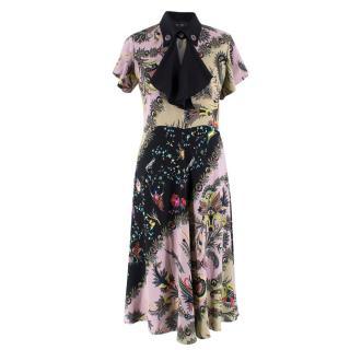 Etro Floral Paisley Print Midi Dress