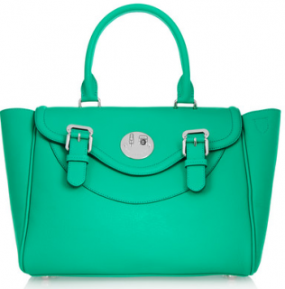 Hill & Friends Happy Satchel textured-leather tote