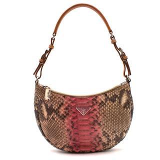 Prada Snakeskin Mini Shoulder Bag