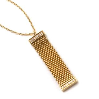 Tiffany & Co. Somerset Gold Mesh & Diamond Pendant