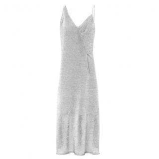 Sass & Bide Silver Liquid Metal Dress