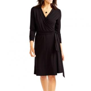 Gerard Darel Black wrap dress