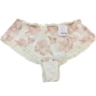 Aubade Paradise Cream & Pink Embroidered St Tropez Brief