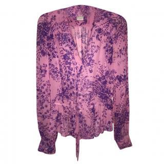 Chloe pink printed blouse