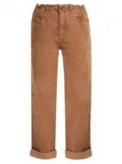 Brunello Cucinelli Brown Boyfriend-fit Cotton-blend Jeans