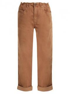 Brunello Cucinelli Brown Boyfriend-fit Cotton-blend Jeans