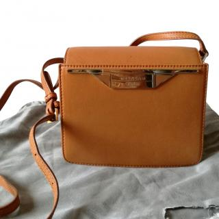 Max Mara Cognac Leather Crossbody Bag