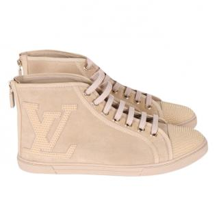 Louis Vuitton Punchy Suede High Top Trainers